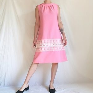Vintage Late 50s/Early 60s Bubblegum Pink Dress